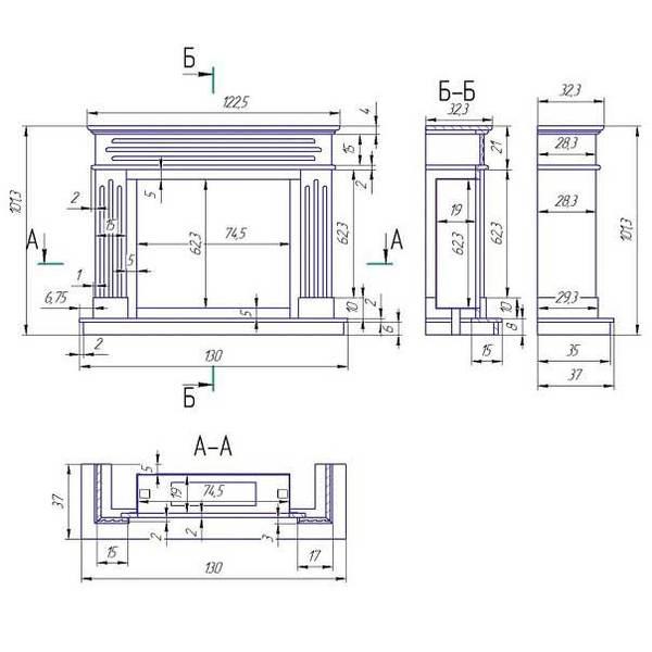Развертка сложных конструкций из гипсокартона